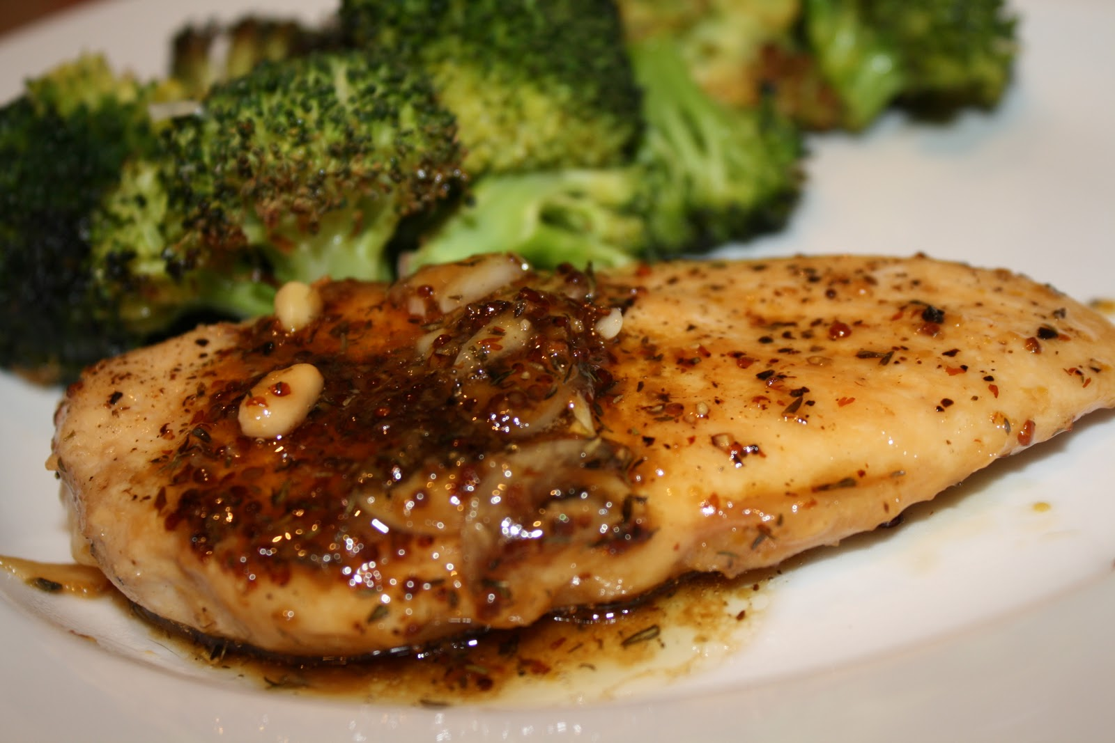 a day in the kitchen of...: maple-mustard glazed chicken ...