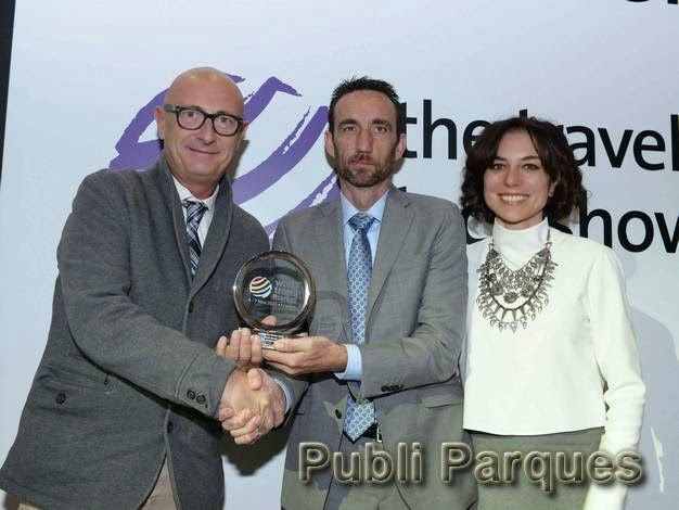 Entrega de premio WTM Global Awards 2014 a PortAventura