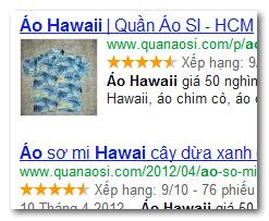 Tạo ngôi sao và logo trên kết quả Google