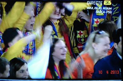 tribunele pline pe Camp Nou