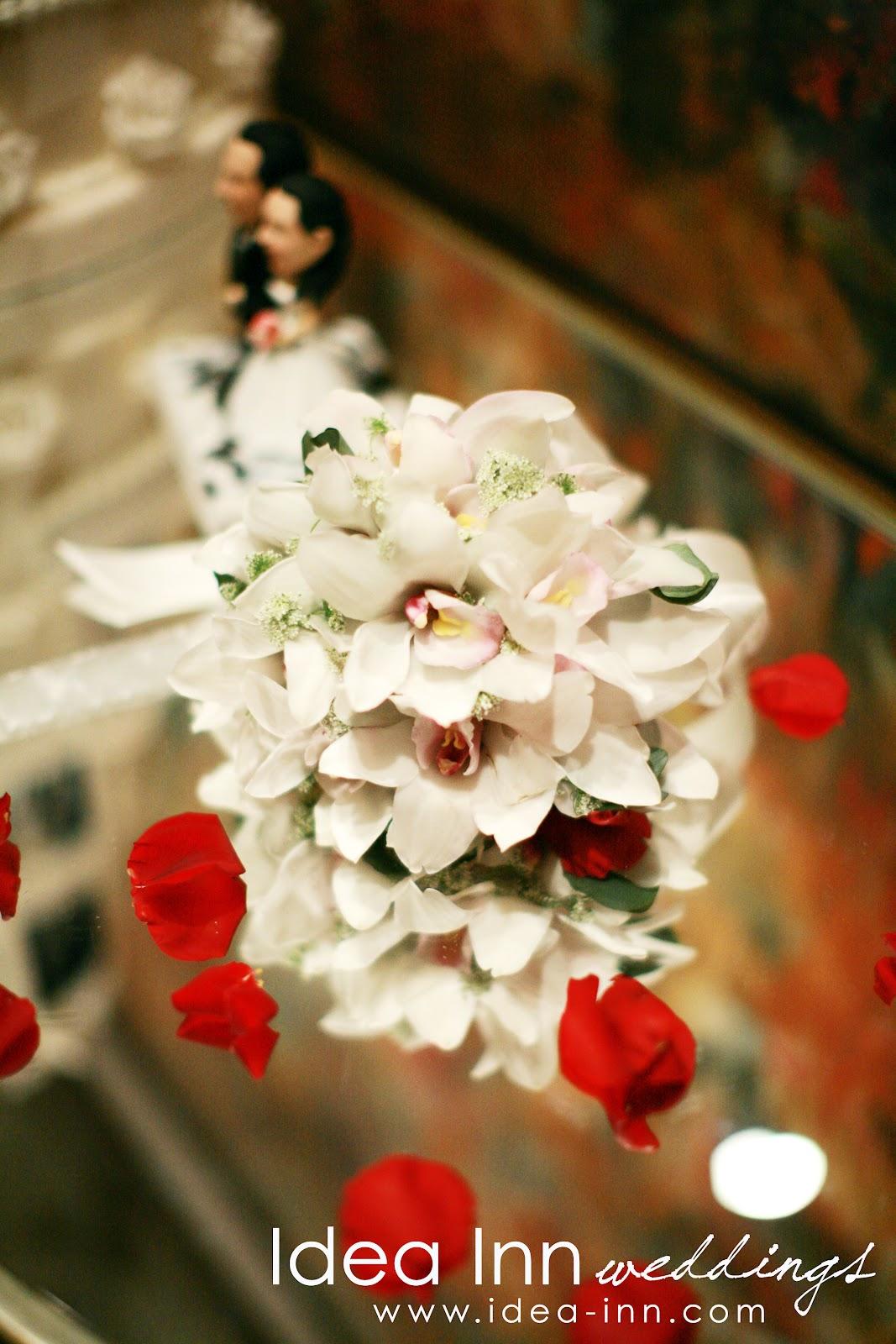 wedding hand bouquet cymbidium orchids