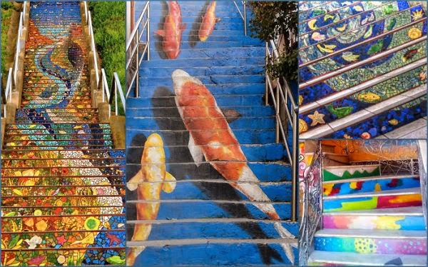 stairs design Collage of unknown levels
