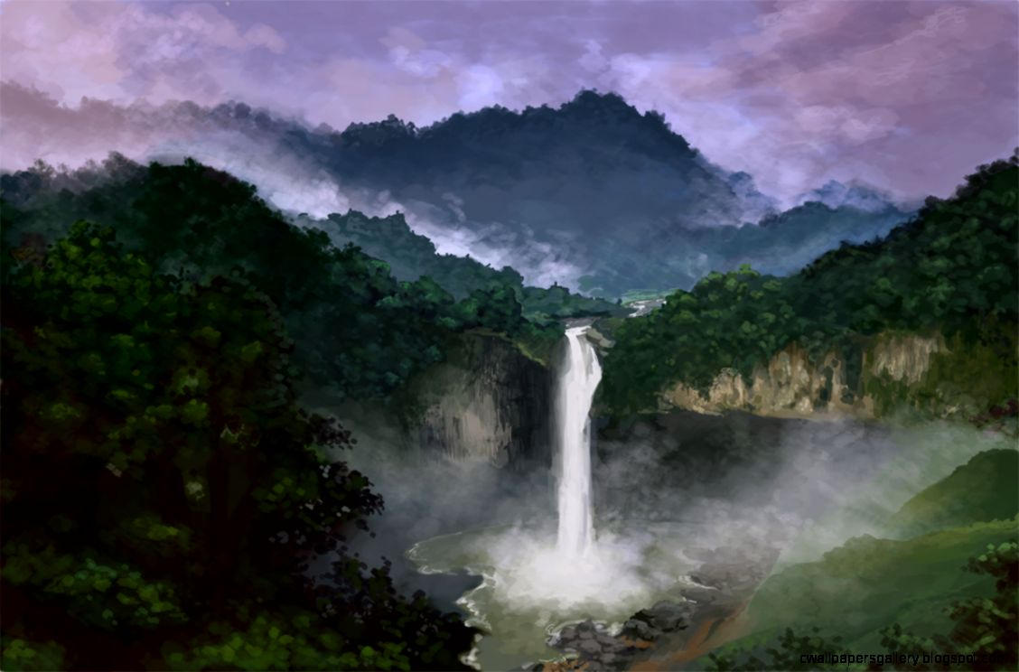 Digital Art Rainforest Landscape 2012 by KimberlySchultz on