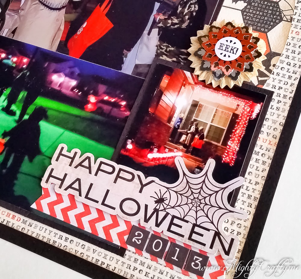Happy Halloween layout for Sketch N Scrap -- www.MightyCrafty.me