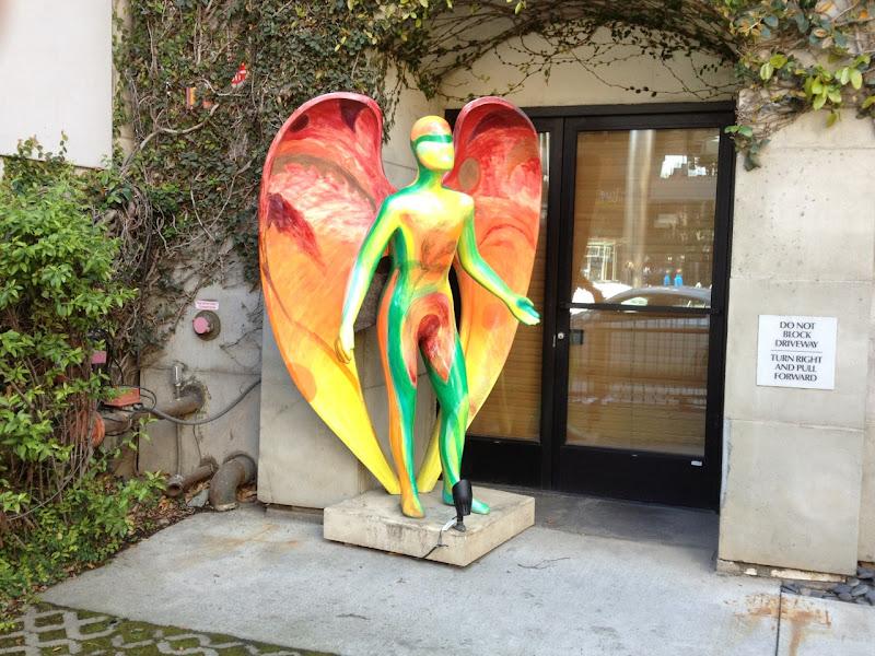 Exotic Angel statue Santa Monica