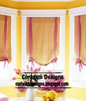 Modern kitchen shades orange, small curtain for kitchens | Curtain ...