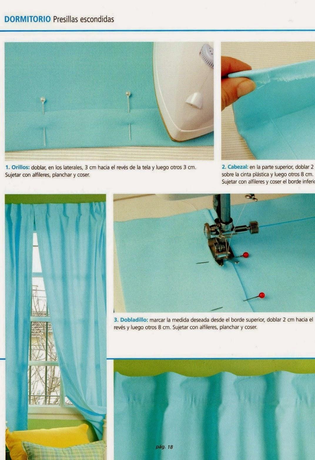 Como hacer cortinas paso a paso revistas de manualidades - Como hacer unas cortinas paso a paso ...