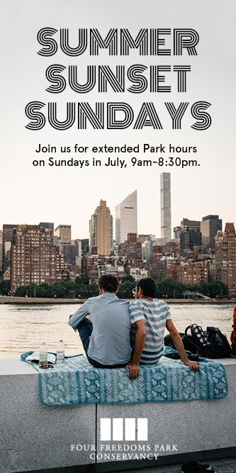 Summer Sunset Sundays At FDR 4 Freedoms Park, Open Until 8:30 PM
