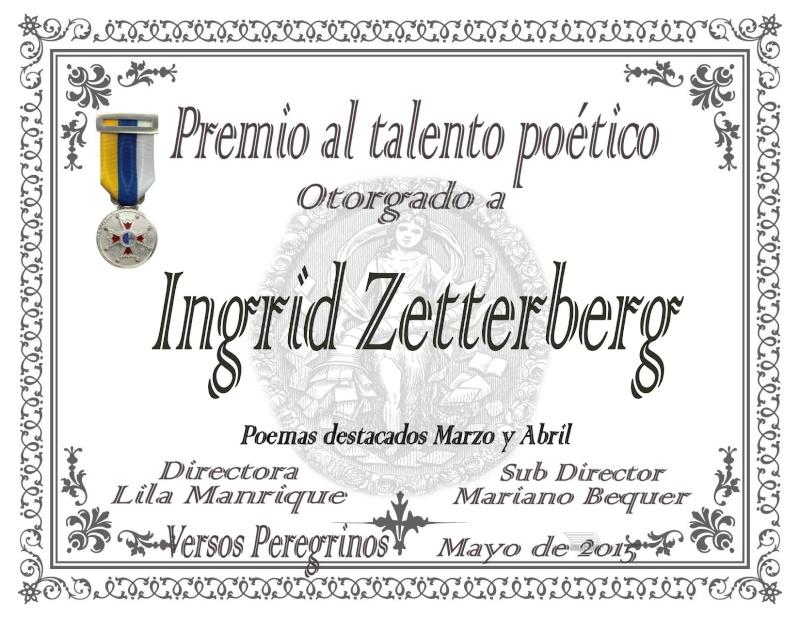 """Premio al talento poético en el foro """"Versos peregrinos"""""""