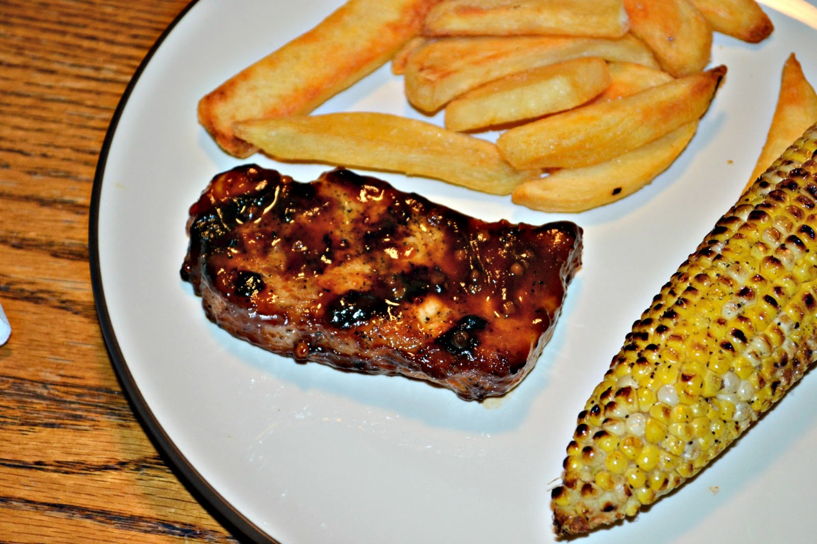 Best Grilled Pork Chops (with a sweet and smokey sauce) #SundaySupper ...
