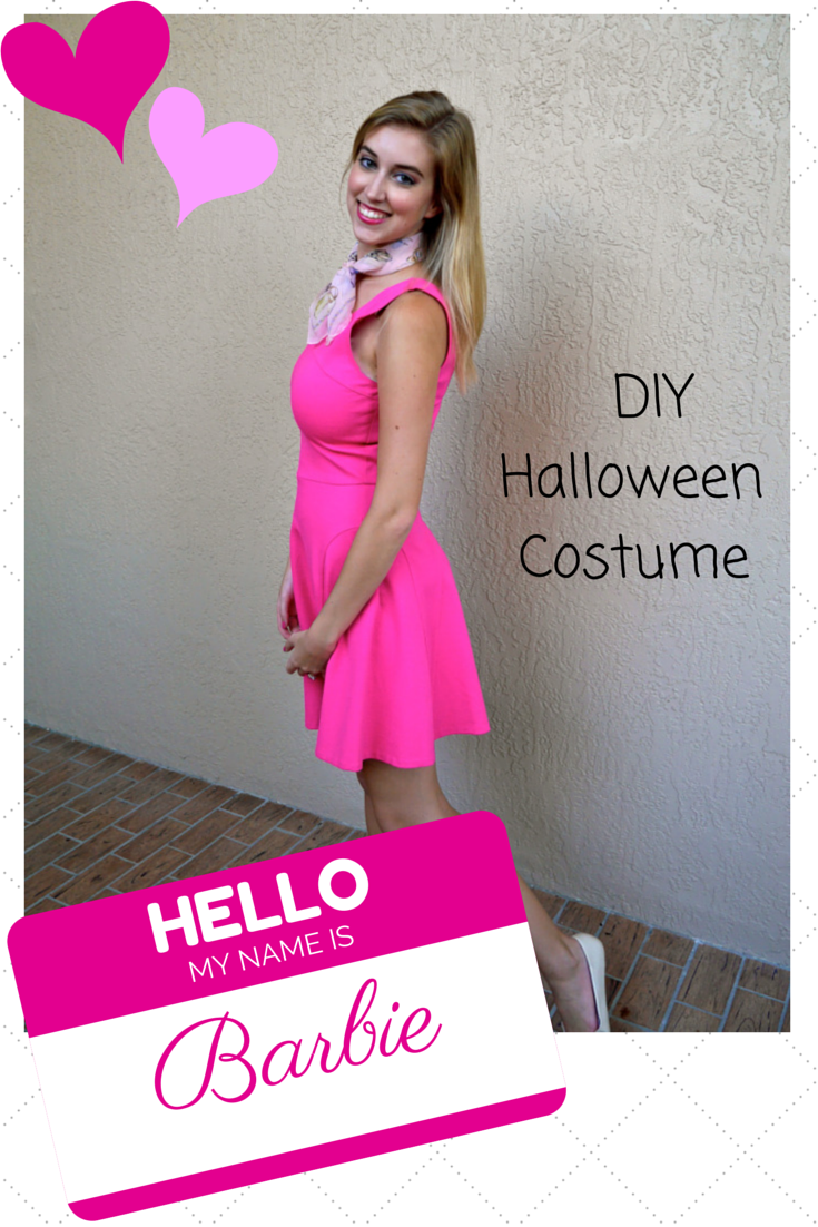 this is so simple because all you really need is a pink dress anything else is just a bonus - Halloween Costume Pink Dress