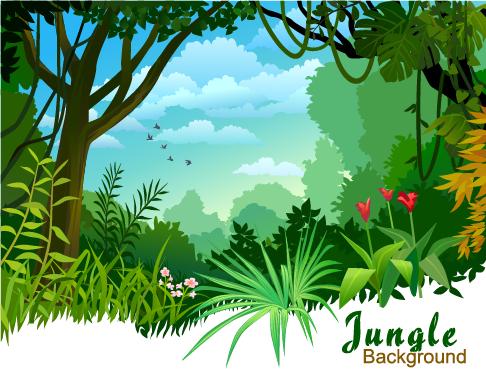 Jungla - ilustraciones vectoriales - 5