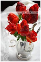 bouquet de fresas con nata