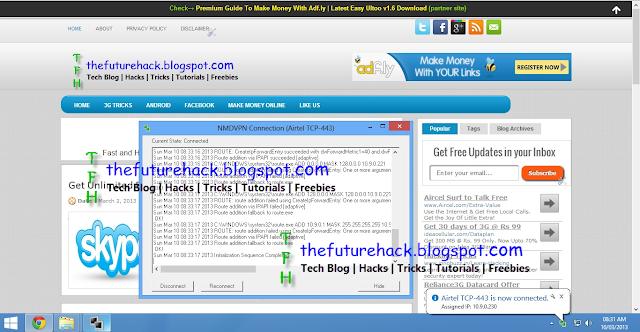 Screenshot Of Airtel TCP 443 Trick
