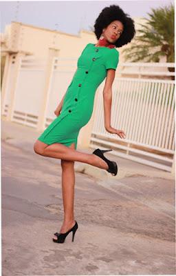 vestido retrô, vestido retrô verde