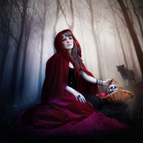 Create a Red Riding Hood Artwork in Photoshop