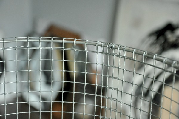 chicken wire metal lampshade diy