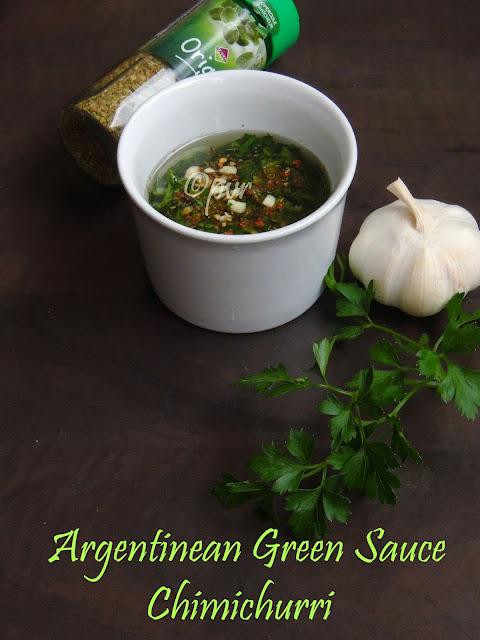Argentina green sauce; chimichurri