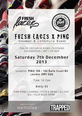 London Sneaker Event, Fresh Laces, Ping, Sneakerhead,