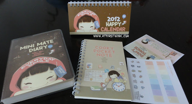 Cookyshop mini mate diary, notebook, calendar, and stickers