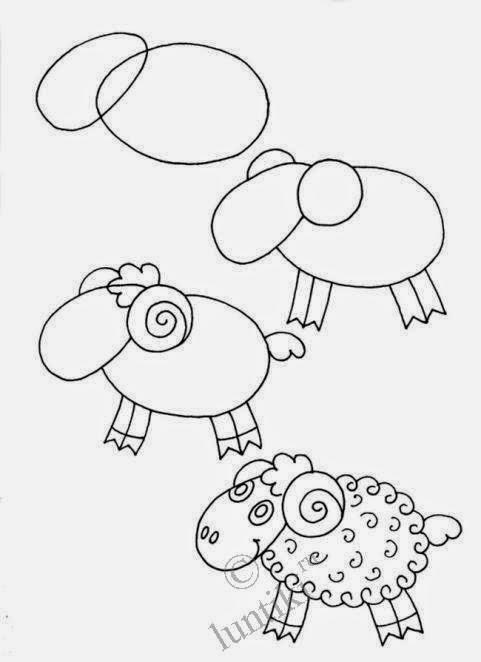 рисунок барана карандашом для детей