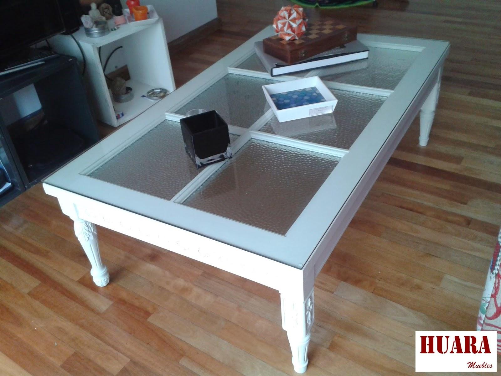 Huara muebles mesa ratona de madera reciclada for Como reciclar una mesa de televisor antigua