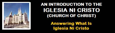 THE IGLESIA NI CRISTO