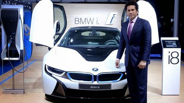 King of cricket Sachin Tendulkar publishes BMW i8