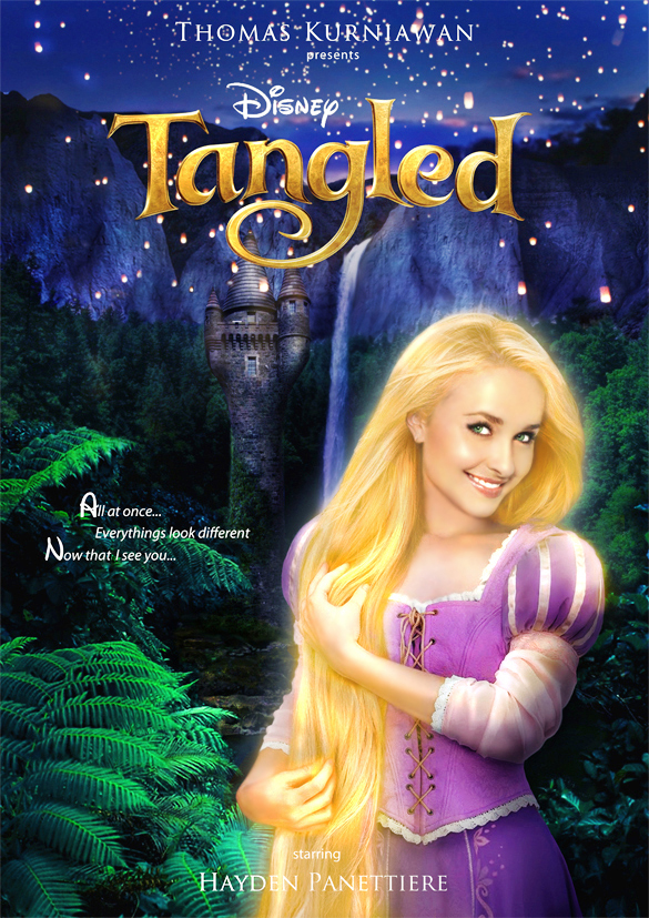 thomas kurniawan u0026 39 s portfolio  disney princess celebrity   rapunzel  tangled