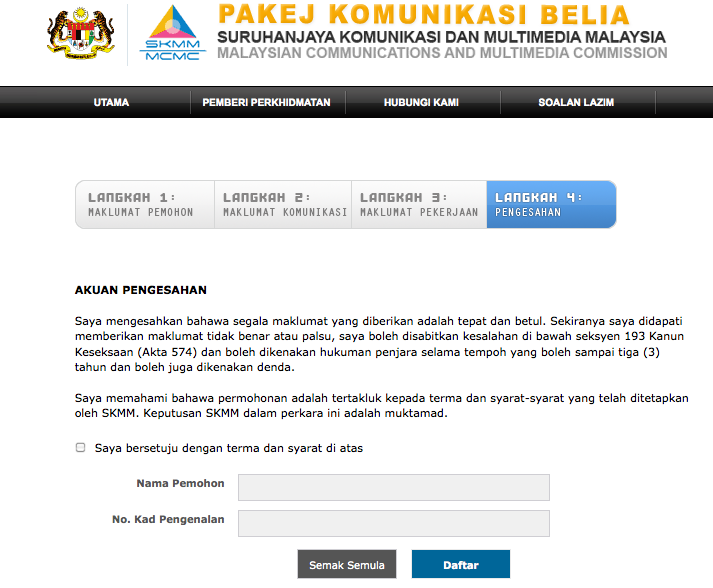 You may receive an email with an attachment which name 'Pendaftaran