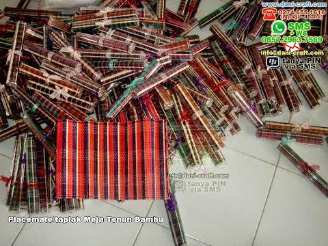 Placematetaplak Meja Tenun Bambu Bambu Lidi Solo