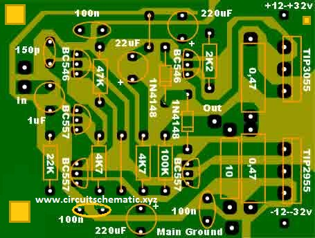 w audio amplifier circuit diagram pcb w ocl subwoofer amplifier tip3055 tip2955 electronic circuit on 500w audio amplifier circuit diagram pcb