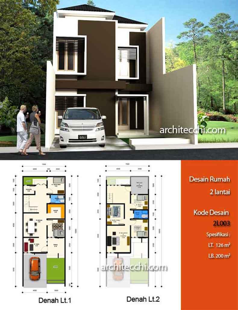 contoh denah rumah minimalis mungil blog interior rumah