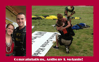 Skydiving Proposal Using a Banner