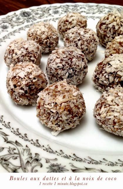 1 recette de dessert boules aux dattes et 224 la noix de coco