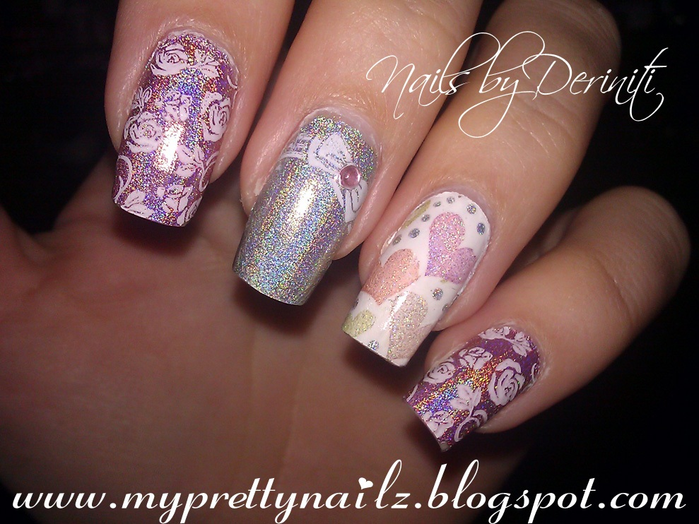 My Pretty Nailz: COLOR CLUB HALO HUES NAIL ART STAMPING DESIGN