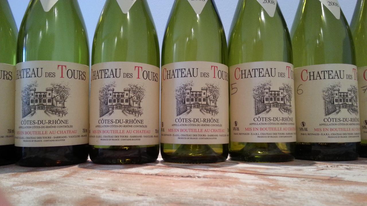 L'OEIL SUR LE VIN: Château des Tours 2008 Horizontale avec ...