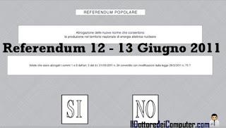 referendum 12 - 13 giugno 2011