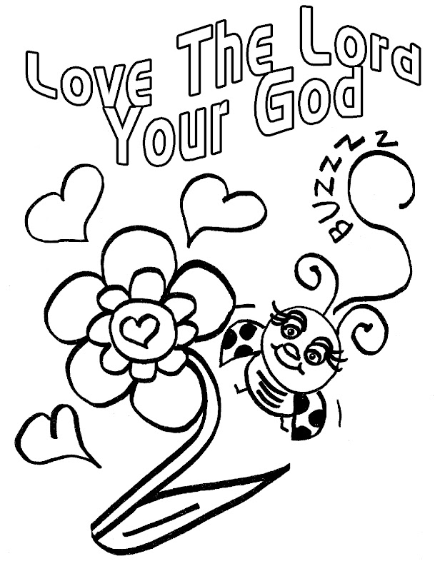 Love Bug For Jesus Coloring Pages title=