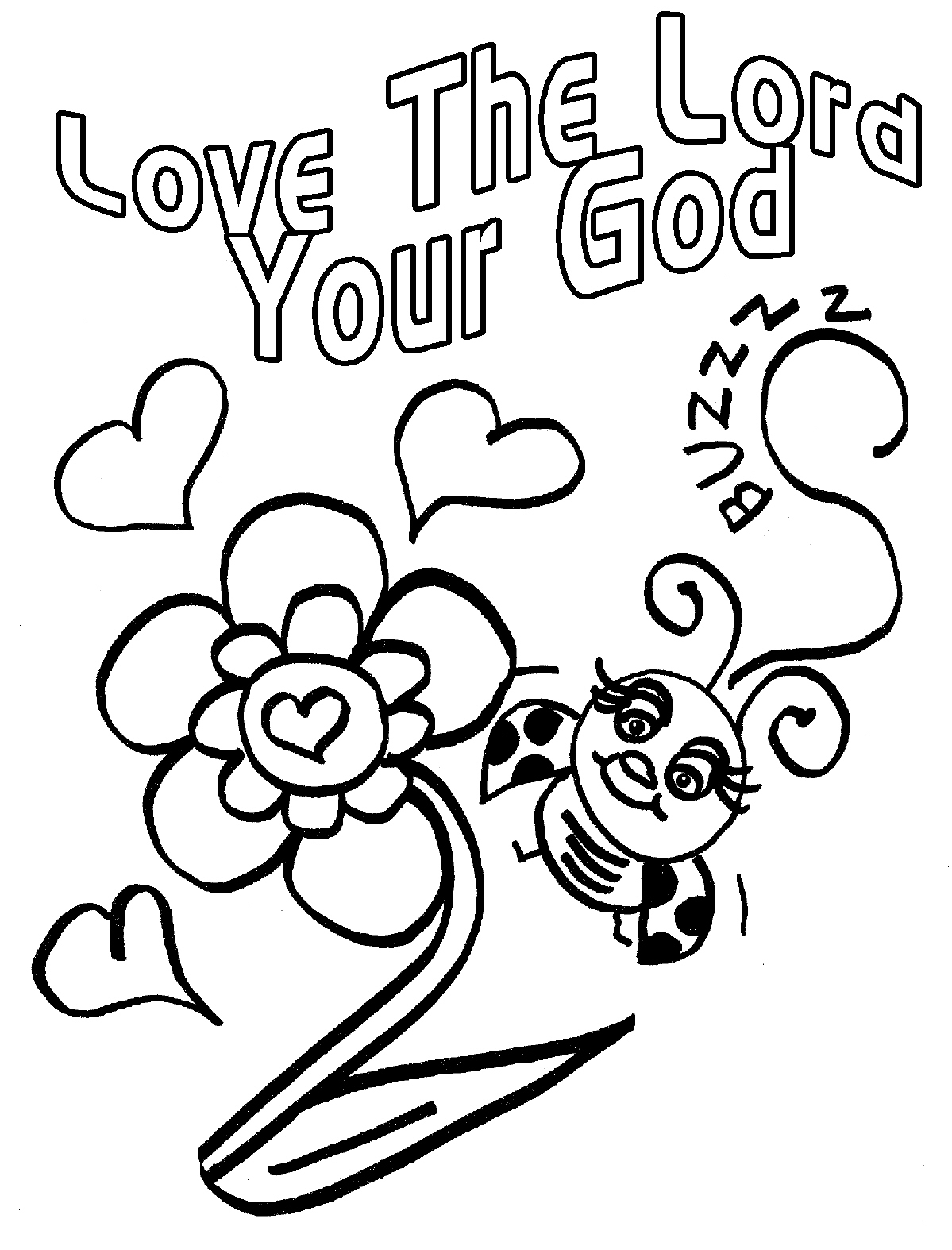 Coloring Page Jesus Loves You