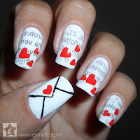 Unhas Decoradas Carta de Amor