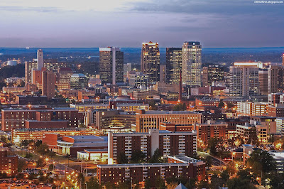 Birmingham Wonderful English City Skyline At Dusk England Hd Desktop Wallpaper