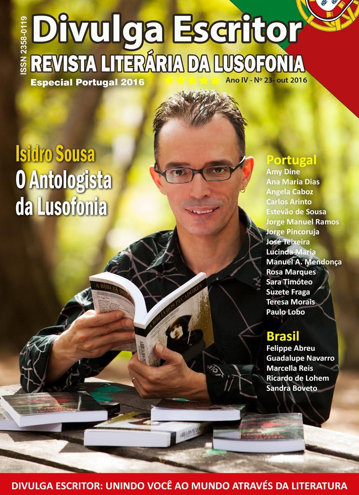 Entrevista (e Capa) com Isidro Sousa na Edição Especial Portugal 2016 da «DIVULGA ESCRITOR»