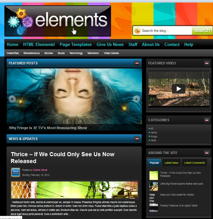 Elements Blogger Template Collection