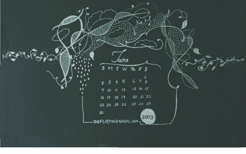 The Flirting Kaapi Freebie June 2013 Desktop Wallpaper