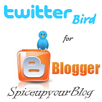 animated twitter bird widget blogger