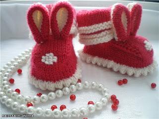 Tavşanlı bebek patiği örneği