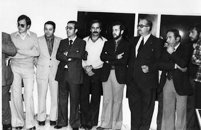 Jugadores y dirigentes del Vic, entre los años 70 y 80