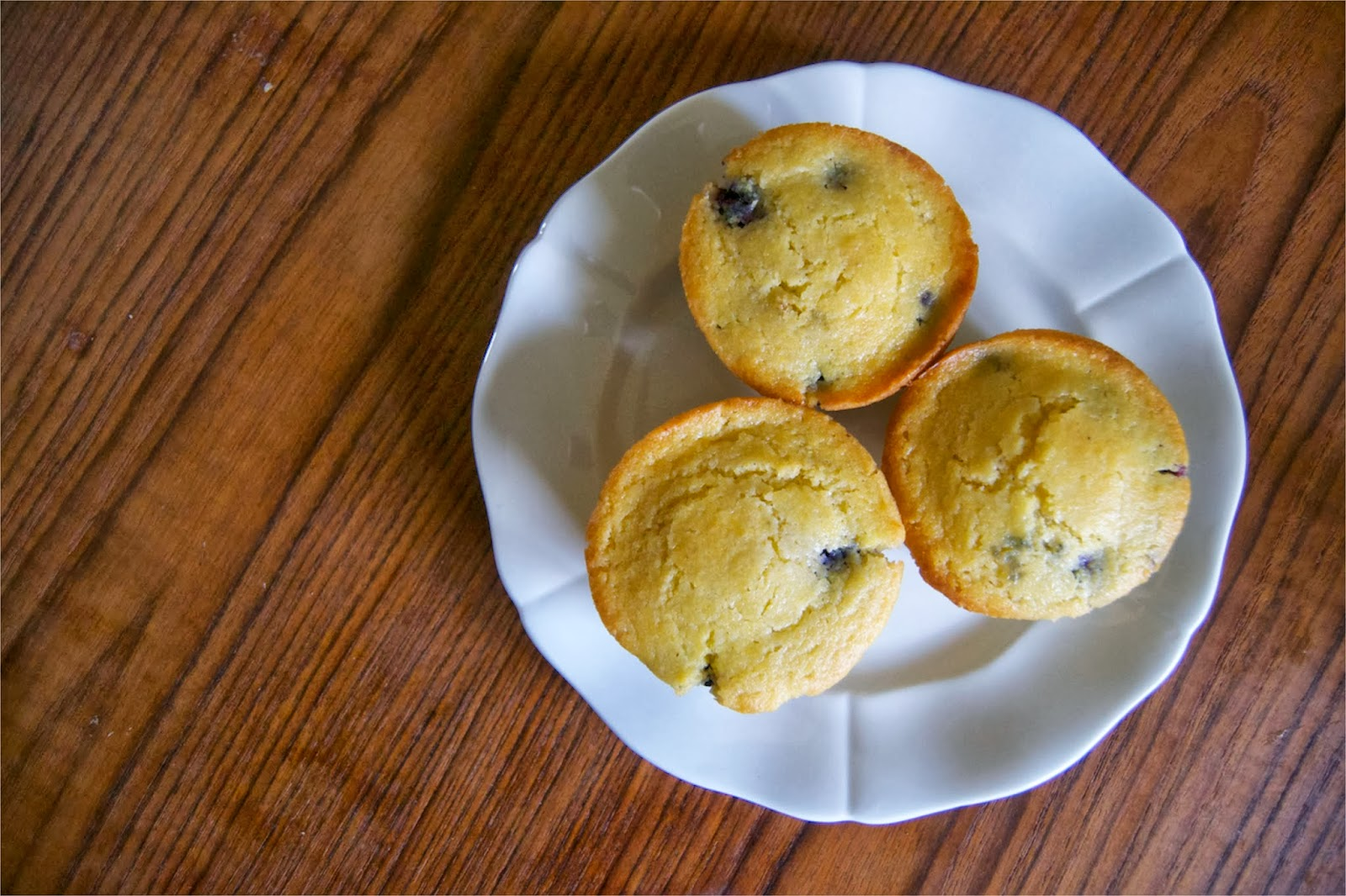 Blueberry Cornmeal Muffins – makes 12 muffins