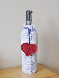 knitted wine etui